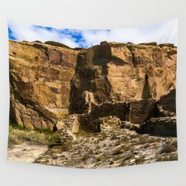 Chaco Canyon New Mexico Archeological Pueblo Site Wall Tapestry