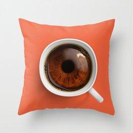 Coffee Eye Throw Pillow