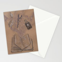 Witches Grimoire Stationery Cards