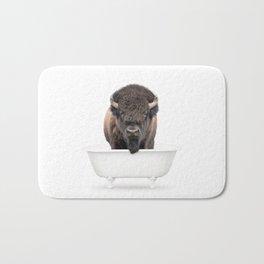 Buffalo in a Vintage Bathtub (c) Bath Mat