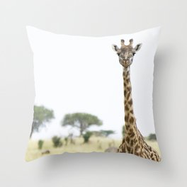giraffe, Serengeti National Park, Tanzania Throw Pillow