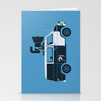 blues brothers Stationery Cards featuring The Blues Brothers' Van by Brandon Ortwein