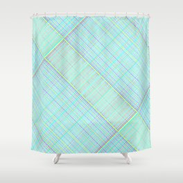 Re-Created  Grid 8 by Robert S. Lee Shower Curtain