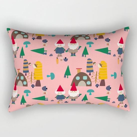 gnome pink Rectangular Pillow