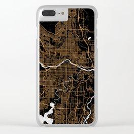 Calgary   Alberta   Canada - Minimalist City Map Clear iPhone Case