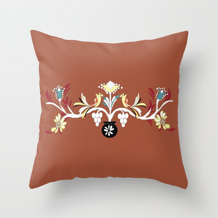 3 The Red Design Throw Pillow