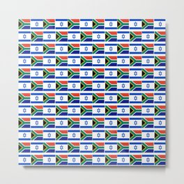 Mix of flag: Israel and south africa Metal Print