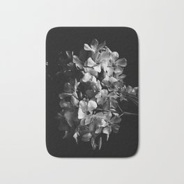 Oleander flowers in black and white 2 Bath Mat