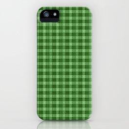 Green Plaid iPhone Case
