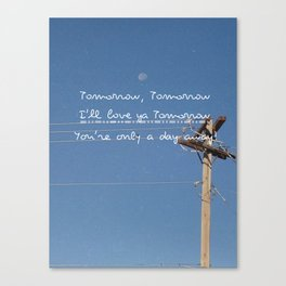 tomorrow Canvas Print