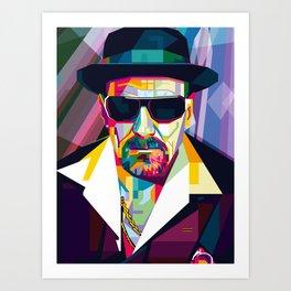Pop Art London Vector Artist CONQR Ultimate Gangster Art Print