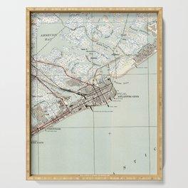 Vintage Map of Atlantic City NJ (1941) Serving Tray