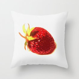 Strawberry - Old Man of the Earth Throw Pillow