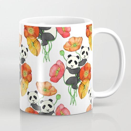 Poppies & Pandas Mug