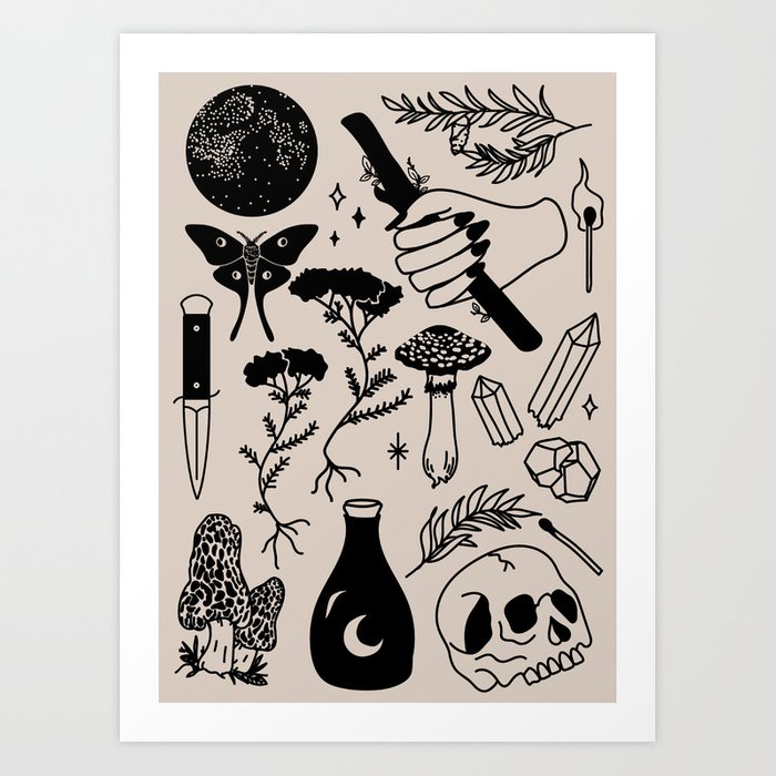 Forest Spells Art Print