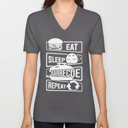 Eat Sleep Barbecue Repeat - Grill BBQ Smoker Unisex V-Neck