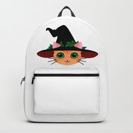 Witch hat cat Backpack