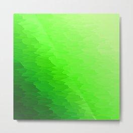 Green Texture Ombre Metal Print