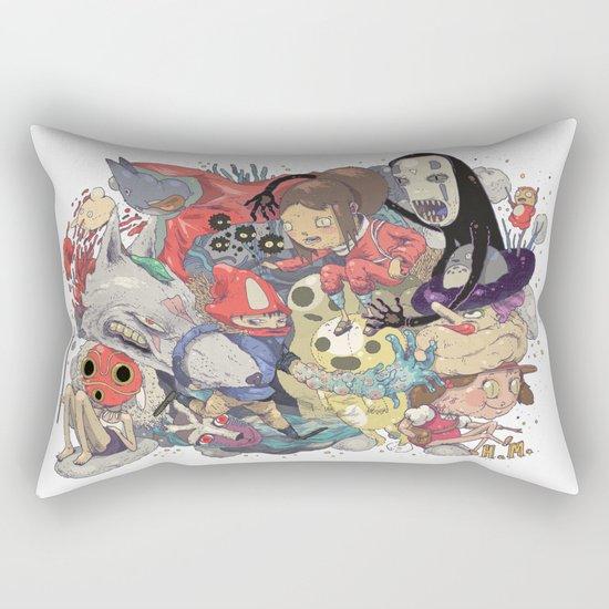 Hayao Miyazaki Rectangular Pillow