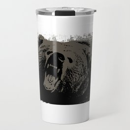 Grizzly bear ready to attack deterring intruders. Gift for boyfriend Travel Mug