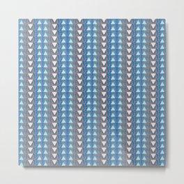 Triangle Micro Pattern Elegant Classic Geometric Metal Print