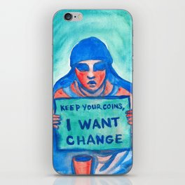 Keep your coins,  I want change iPhone Skin