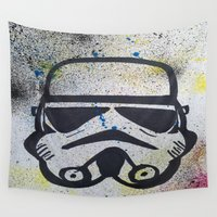 trooper Wall Tapestries featuring Trooper by Cyndi Sabido