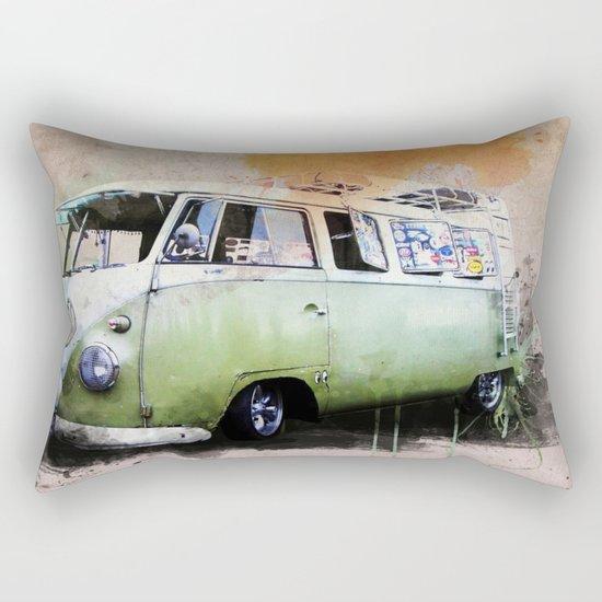 vintage volkswagen Rectangular Pillow