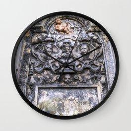 Ancient Grave Stone Greyfriars Kirk Graveyard Wall Clock