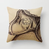chuck Throw Pillows featuring Chuck it by Esteban Garza