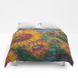 Vesper Sunflowers Comforters