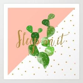 Sleep On It Art Print