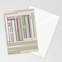 Metaphysical Oatmeal Taupe Sage geometric graphic design Stationery Cards