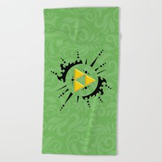 Triforce Zelda Beach Towel