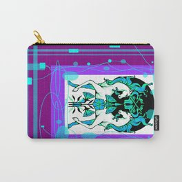 Ethereal Aqua-Purple Unicorns abstract Carry-All Pouch