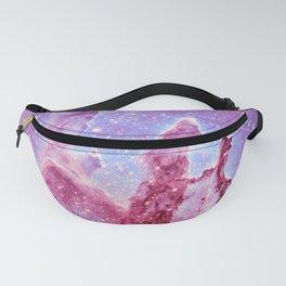 Galaxy nebula : Pillars of Creation lavender mauve periwinkle Fanny Pack