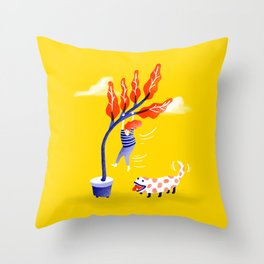 The New Dog Throw Pillow