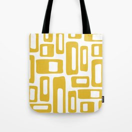 Retro Mid Century Modern Abstract Pattern 336 Mustard Yellow Tote Bag