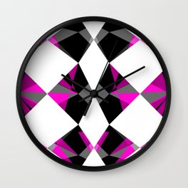 Gemstones Geometric Pink Wall Clock