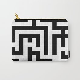 Black and White Labyrinth Carry-All Pouch