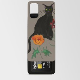 Black cat Le Chat Android Card Case