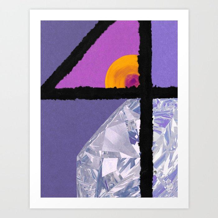 Diamond Four Art Print