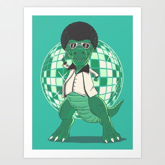 Discosaurs Art Print