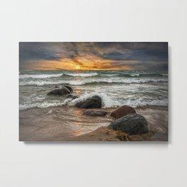 Sunset on Sturgeon Bay in Lake Michigan Metal Print