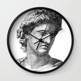 Portrait of Apollo Belvedere Wall Clock