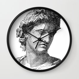 Portrait of Apollo Belvedere Wall Clock