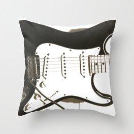 Stratocaster Guitar Throw Pillow