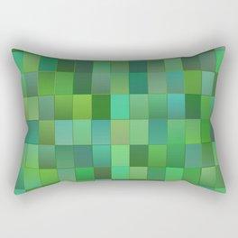 Green Mosaic Tile Pattern Rectangular Pillow