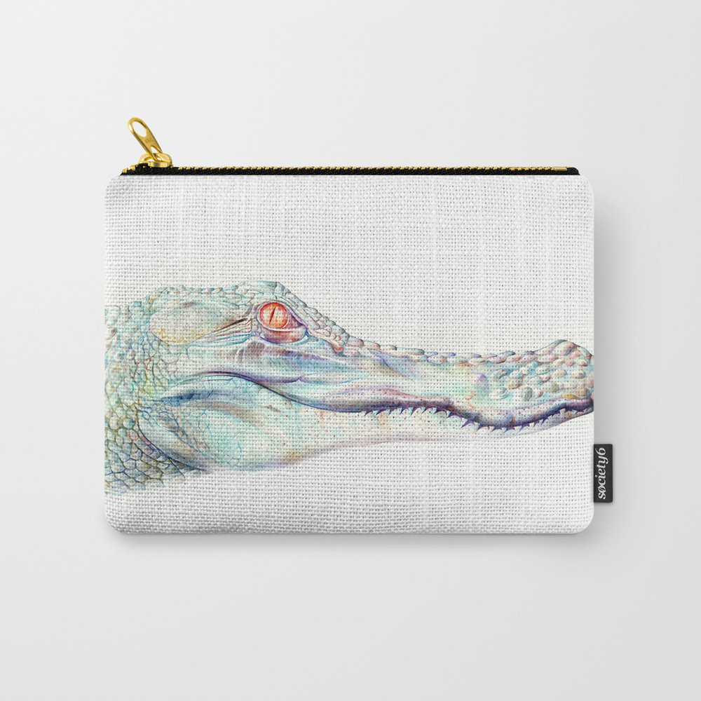 Albino Alligator Carry-all Pouch by Brandonkeehner CAP4311143