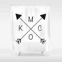 kansas city Shower Curtains featuring Kansas City x KCMO by KC Design Co.